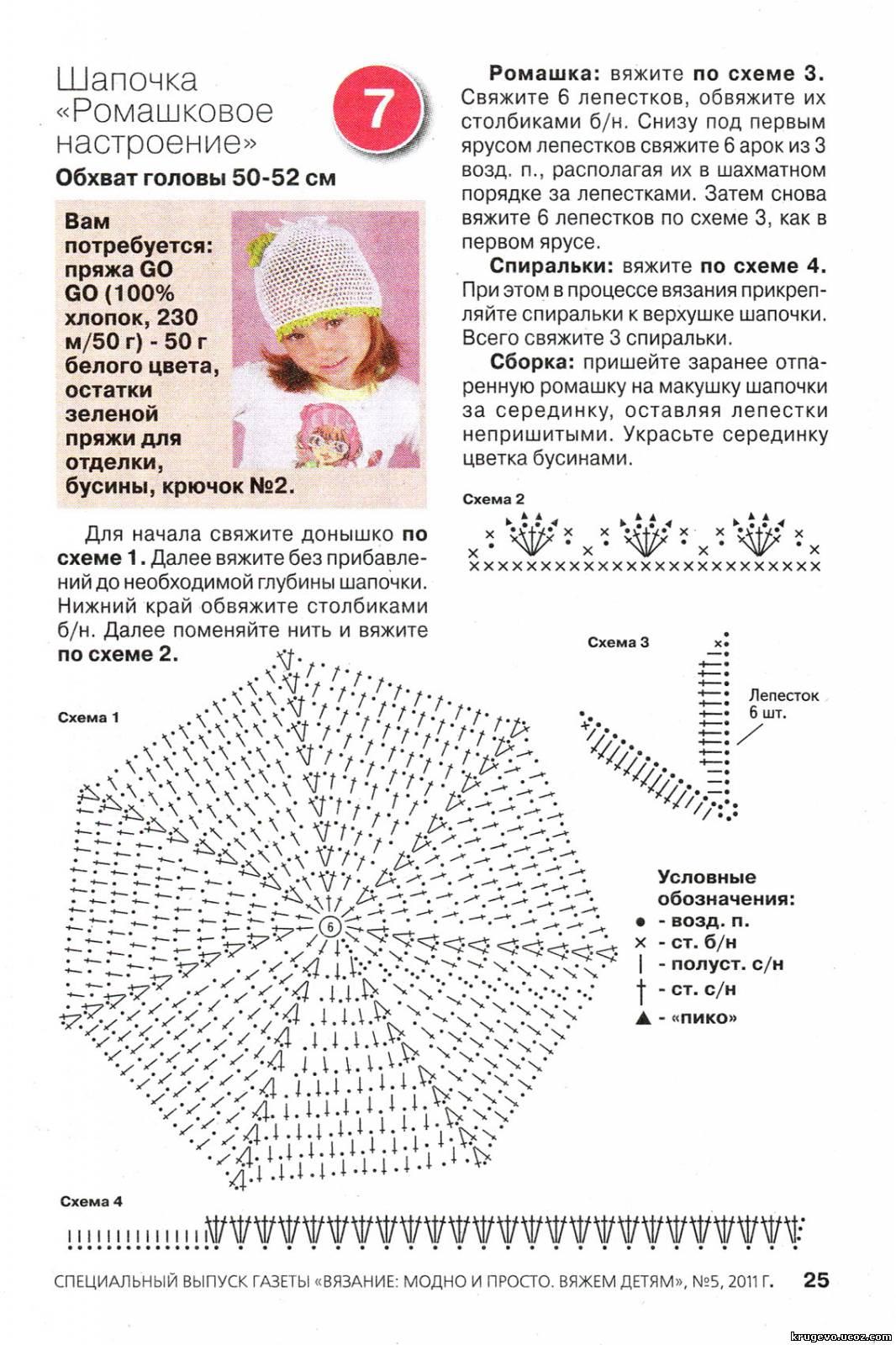 Шапки вязание схемы девочками 330